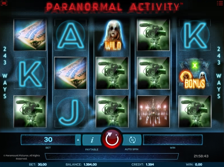 Paranormal Activity slot review iSoftbet