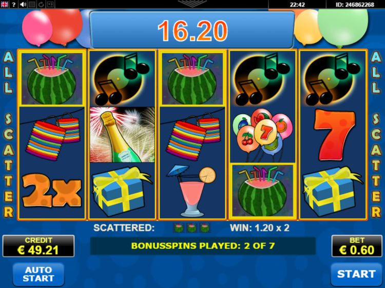 Party Time Amatic slot bonus win