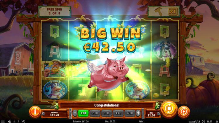 Piggy Bank Farm slot free spins big win
