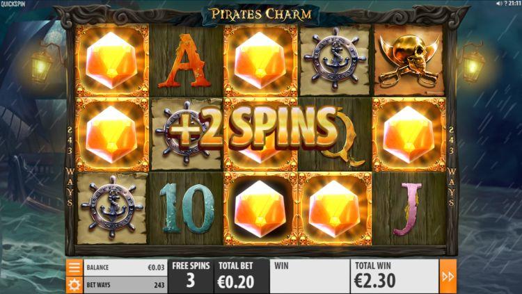 Pirates charm quickspin bonus retrigger
