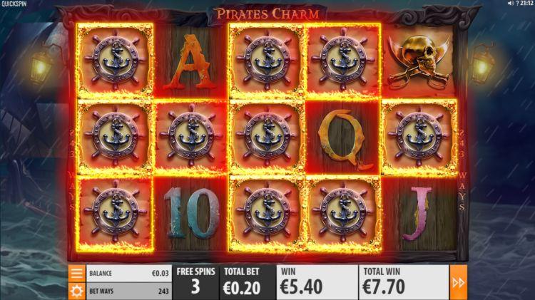 Pirates charm quickspin bonus win