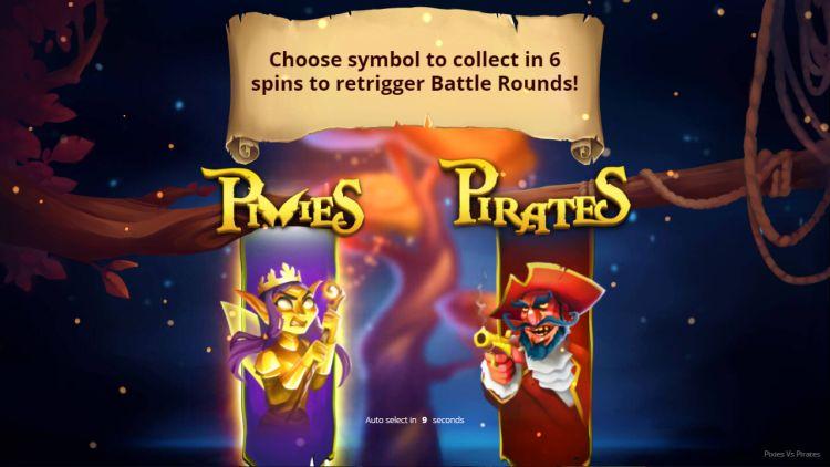 Pixies vs Pirates slot review bonus choose