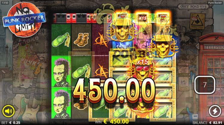 Punk Rocker slot review free spins mega win