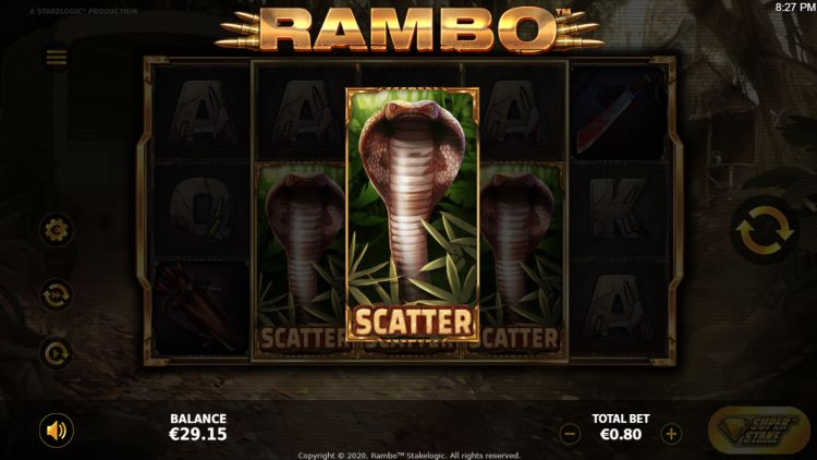 Rambo slot review Stakelogic bonus trigger