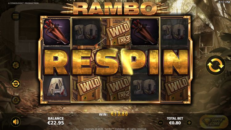 Rambo slot review Stakelogic win