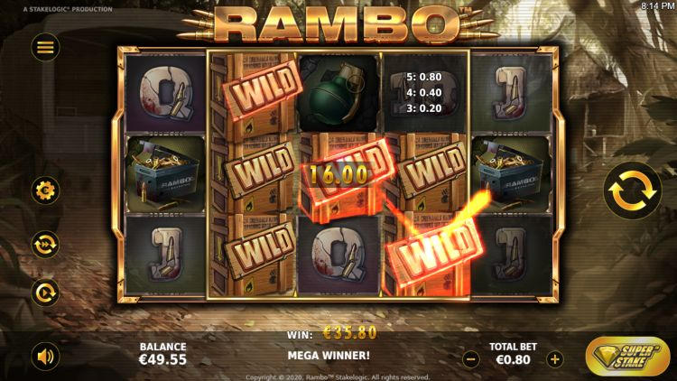 Rambo slot review big win
