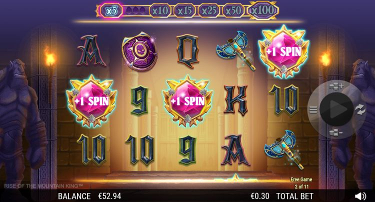 Rise of the mountain king slot review retrigger