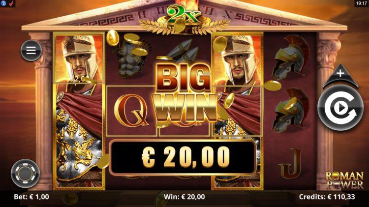 Roman Power slot review microgaming big win