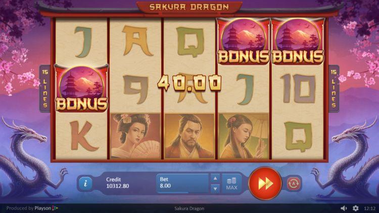 Sakura Dragon playson bonus trigger