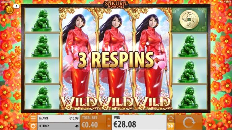 Sakura Fortune Quickspin 3 wilds
