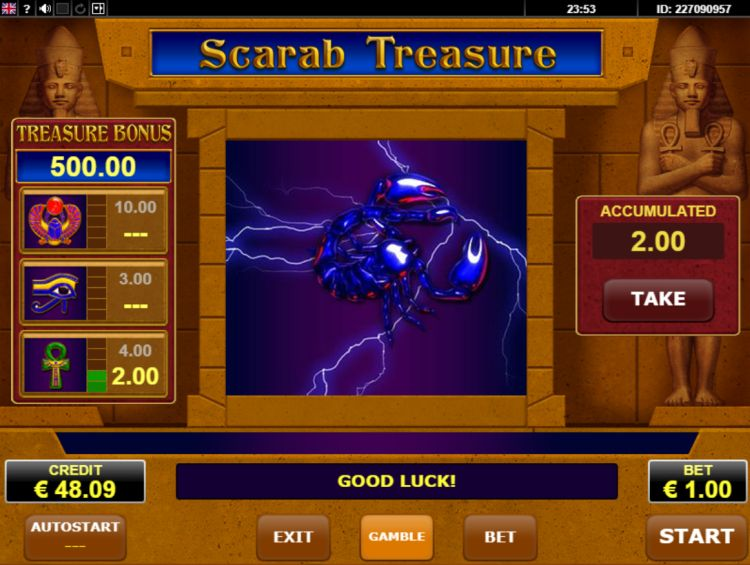 Scarab Treasure amatic review