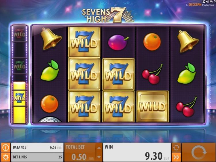 Sevens High Quickspin slot win