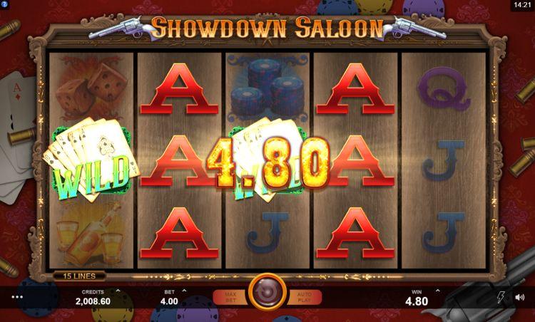 Showdown Saloon Microgaming win
