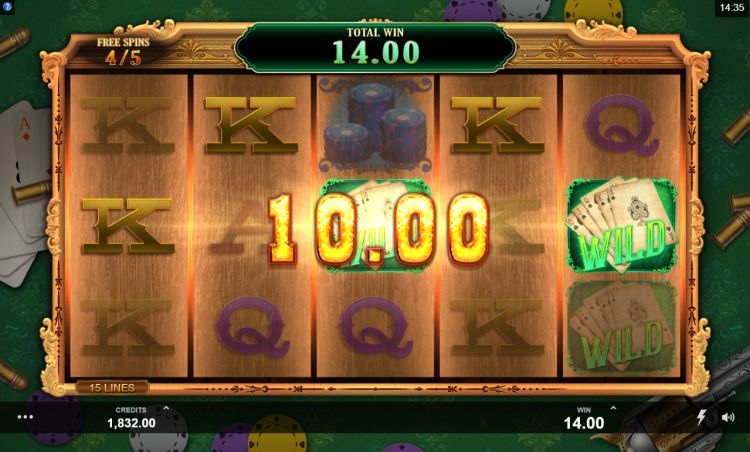 Showdown Saloon slot Microgaming review free spins