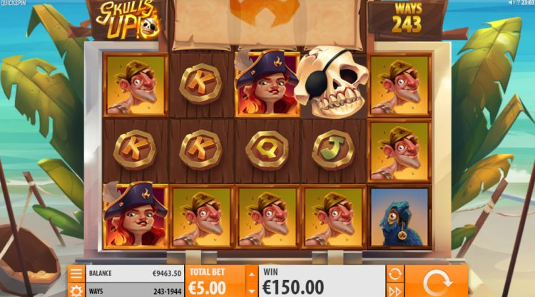 Skulls Up slot review Quickspin big win