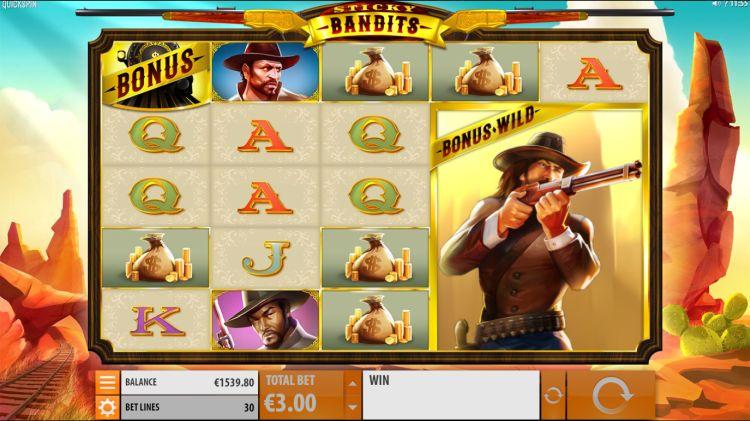 Sticky Bandits quickspin bonus trigger