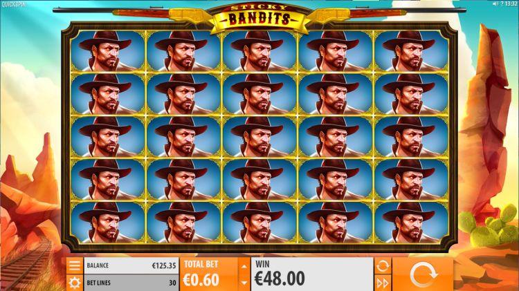 Sticky Bandits quickspin mega win