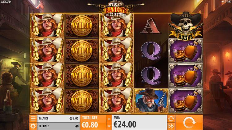 Sticky bandits wild return quickspin big win 2