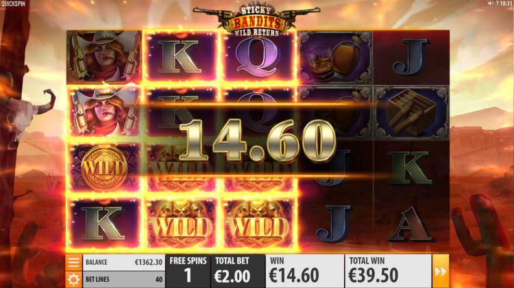 Sticky bandits wild return quickspin free spins win