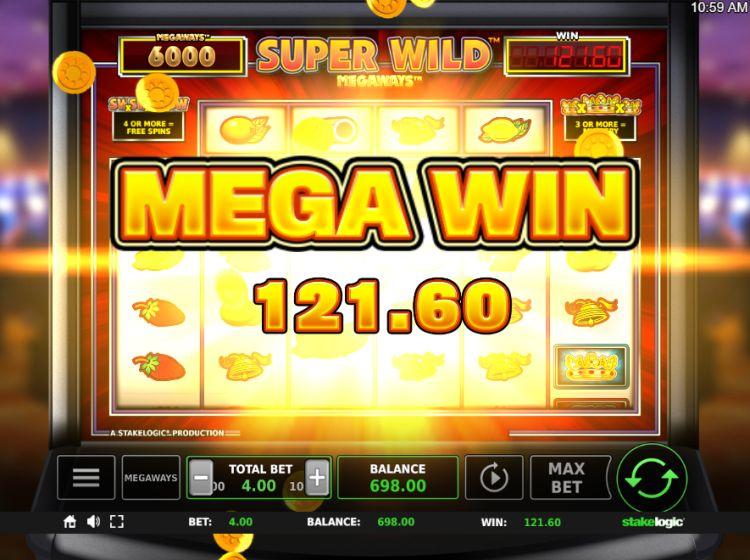 Super Wild Megaways slot review stakelogic big win