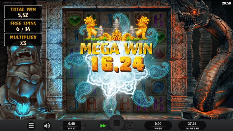 Temple Tumble Megaways bonus win 2