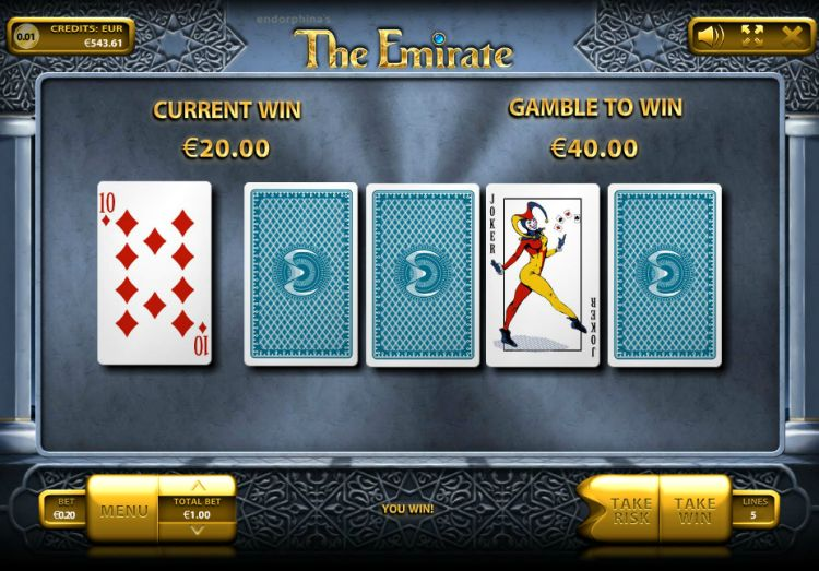 The Emirate slot review endorphina gamble feature