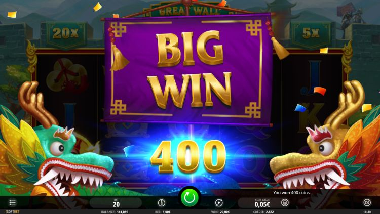The Great Wall isoftbet review big win