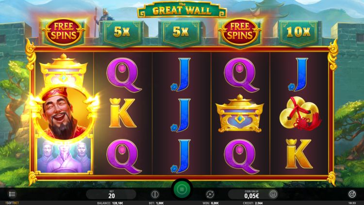 The Great Wall isoftbet review bonus trigger
