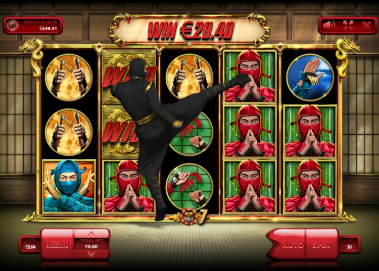 The Ninja slot endorphina bonus win