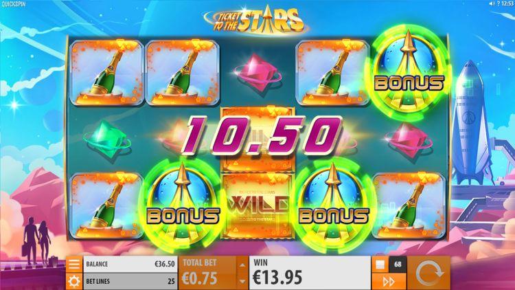 Ticket to the stars slot review Quickspin bonus trigger