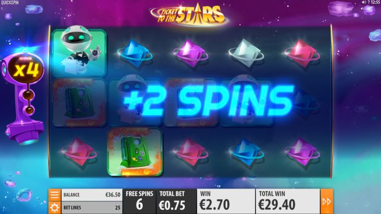 Ticket to the stars slot review Quickspin retrigger