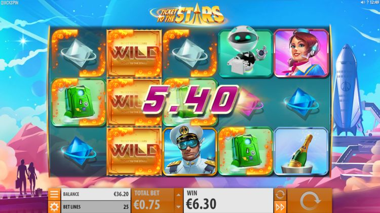 Ticket to the stars slot review Quickspin win