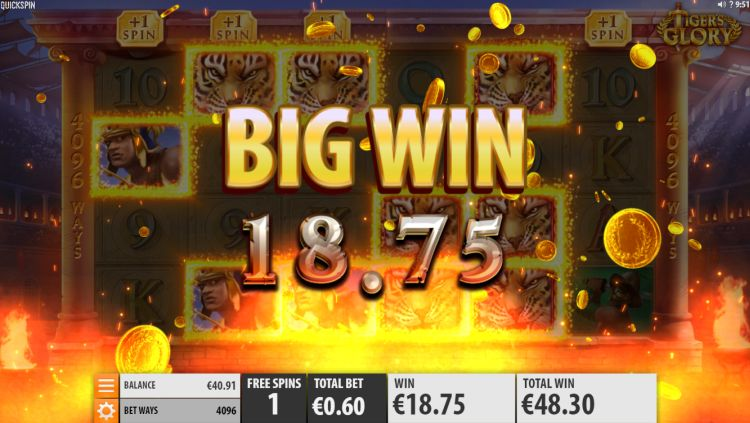 Tigers glory slot review Quickspin bonus big win