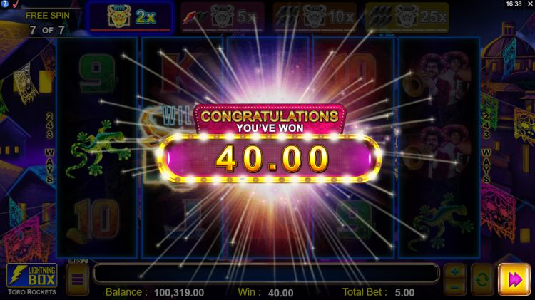Toro Rockets slot review free spins