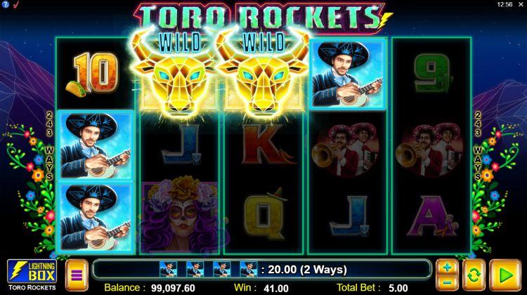 Toro Rockets slot review lightning box big win