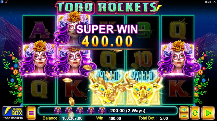 Toro Rockets slot review super big win