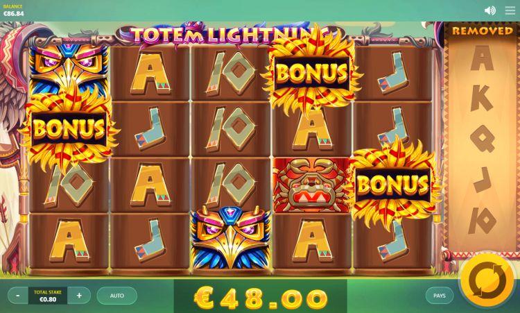 Totem Lightning Red Tiger Gaming bonus trigger