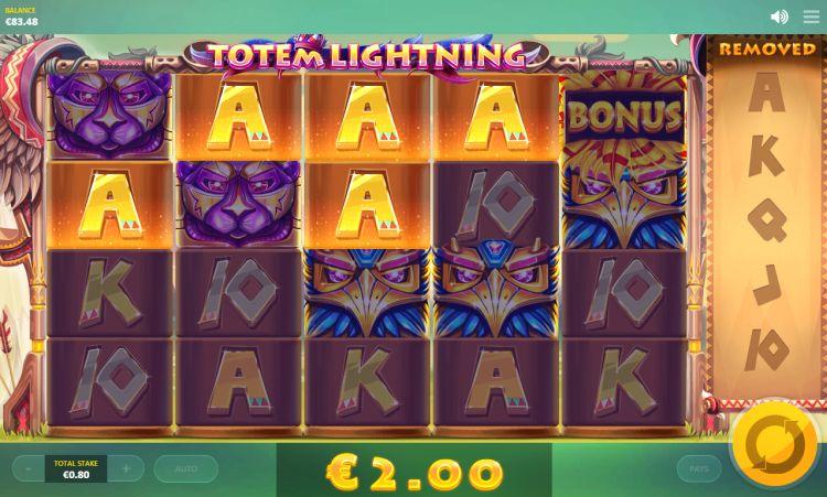 Totem Lightning Red Tiger Gaming win