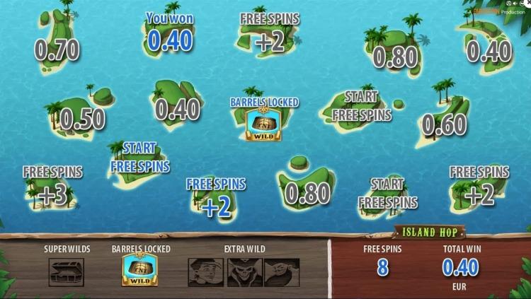 Treasure Island slot quickspin free spins bonus