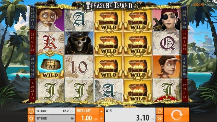 Treasure Island slot quickspin win