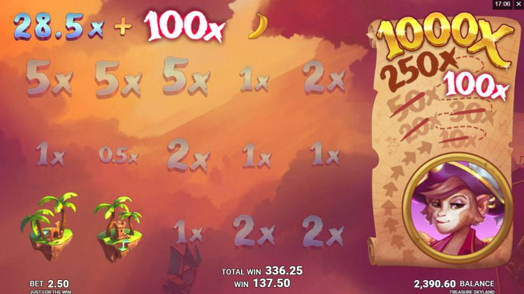 Treasure Skyland slot review pick and click bonus