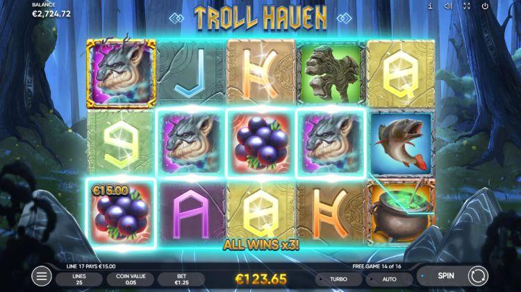 Troll Haven slot review Endorphina bonus win