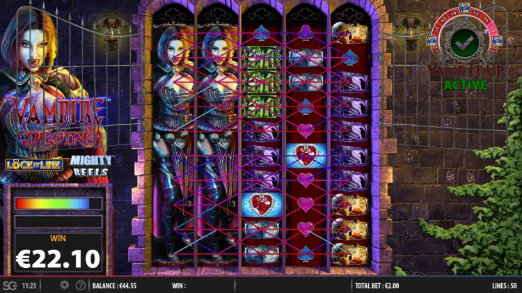 Vampire desire lock it link slot big win