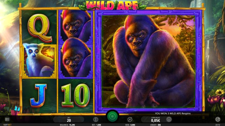 Wild Ape isoftbet review respins