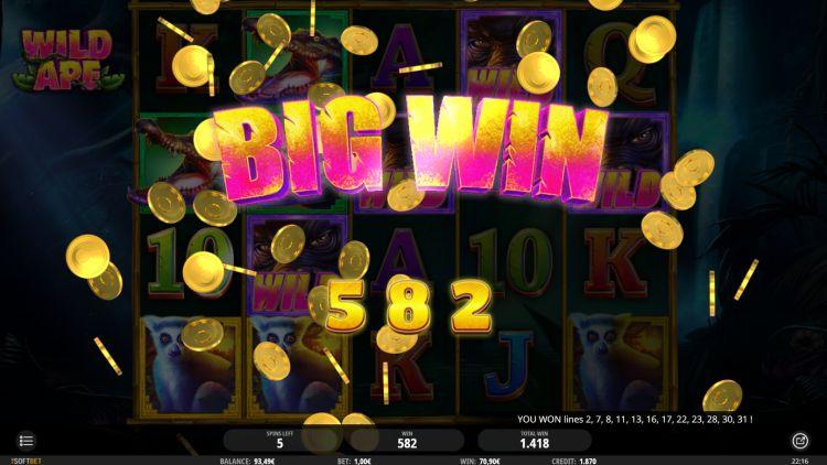 Wild Ape isoftbet slot review big win