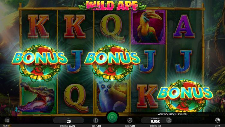 Wild Ape isoftbet slot review bonus trigger