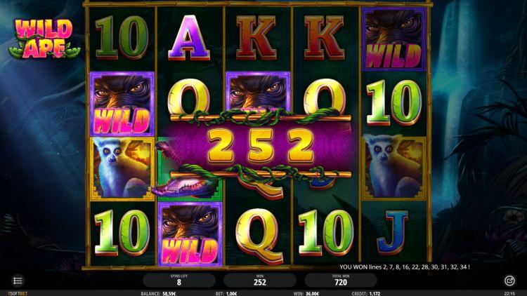 Wild Ape isoftbet slot review bonus win