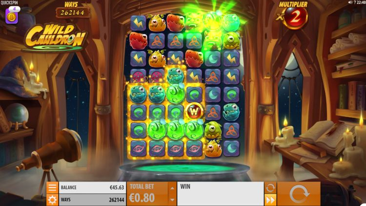 Wild Cauldron free spins bonus trigger