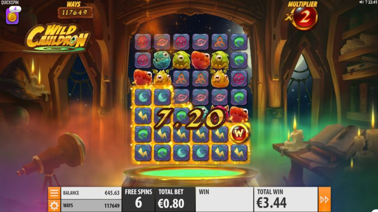Wild Cauldron free spins bonus