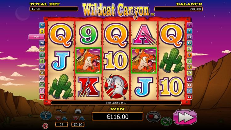Wildcat canyon slot review bonus win